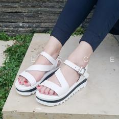 Diskon Isabel Sepatu Sandal Wanita Allyson Wedges Putih Branded