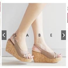 Isabel Sepatu Sandal Wanita DEBBIE Wedges Brown Coklat