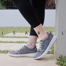 Isabel - Sepatu Kets Wanita YOONA Sneakers Shoes - Hitam