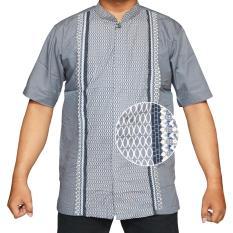 Isbath Baju Koko Lengan Pendek Kdkp 160528 Abu Original