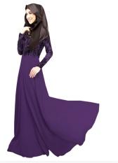 Busana Muslim Wanita Maxi Panjang Gaun Dubai Maroko Kaftan Kaftan Jilbab Islam Abaya Muslim Turki Arabic Dresses Jubah-Intl