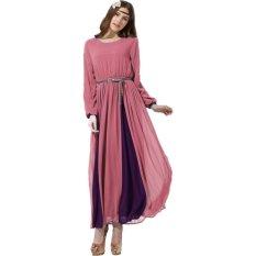 Ongkos Kirim Bukan Dengan Kata Gaun Panjang Maxi Abaya Islam Berwarna Merah Muda Di Indonesia