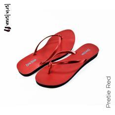Harga Isrin Isran Sandal Flat Pretie Red Di Jawa Timur