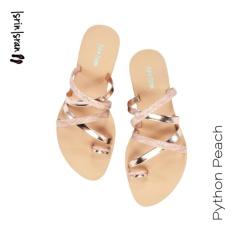 Isrin Isran Sandal Python - Peach