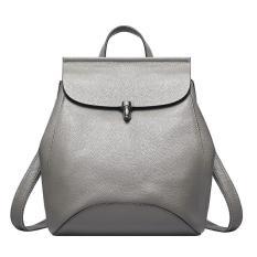 Munoor Italian Women Backpacks 100 Genuine Cowhide Leather Casual Sling Shoulder Bags Sch**l Students Bags Grey Intl Promo Beli 1 Gratis 1