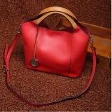 Ulasan Munoor Bahasa Italia Wanita Handbags 100 Kulit Sapi Asli Elegan Shoulder Bags Modis Tote Bags Merah Intl