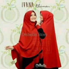Beli Ivana Khimar Red Best Seller Raja Clothing Asli