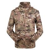 Miliki Segera Jaket Pria Jaket Sports Luar Room Cangkang Lunak Taktis Pakaian Berburu Jaket Militer Tentara