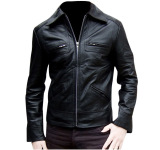Kualitas J Brille Men Semi Leather Jacket Formal Hitam J Brille
