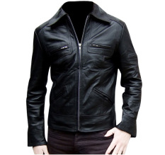 J Brille Men Semi Leather Jacket Formal Hitam Asli