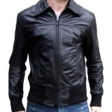 Review J Brille Men Semi Leather Jacket Formal Rib Black Di Jawa Barat