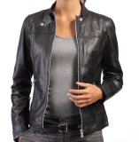 Promo J Brille Women Semi Leather Jacket Simple Hitam Murah