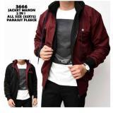 Spesifikasi J E Fashion Jaket Parasut Dc Bolak Balik Maroon Black Yang Bagus Dan Murah
