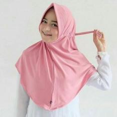 JABAR - FREE ONGKIR Kerudung Hijab Jilbab Instan serut  tali Jokowi pink merah muda adem  Wanita nyaman di pakai sma smp hijabers Linen Ruby Square Motif Corak Bunga Warna Termurah Murah Laris Dan Terlaris Best Seller Muslimah Modis Kekinian  FREE COD