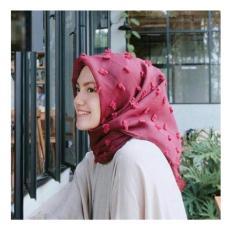 JABAR - FREE ONGKIR Kerudung Hijab Jilbab Umma Merah Maroon Linen Wanita Segi empat Linen Ruby Rubiah Rubby Rubi SquareMotif Fariasi Corak Bunga Warna Termurah Murah Laris Dan Terlaris Best Seller Muslimah Modis Kekinian  Embos Import COD