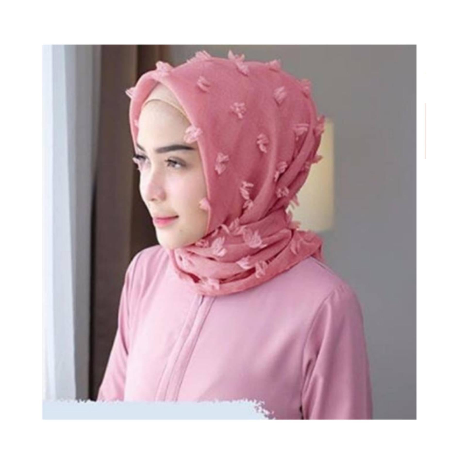Import Umma Carf JABAR - FREE ONGKIR Kerudung Hijab Jilbab Umma Pink Merah  Muda Linen Wanita Segi empat Linen 284df01dc2