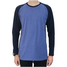 Spek Jackdow Dls17 Kaos Raglan Lengan Panjang Cool Combinasi Two Tone Blue Navy Jackdow