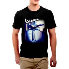 Jual Jackdow T0111 Kaos Distro Desain Vespa Hitam Branded