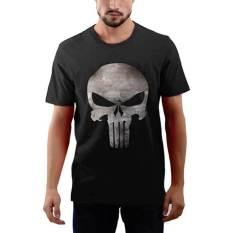 Harga Jackdow T0123 Kaos Distro Punisher Hitam Termahal