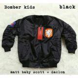 Harga Jacket Bomber Anak Black Bilal Baru