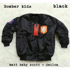 Jacket Bomber Anak Black Diskon Akhir Tahun