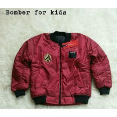 Diskon Jacket Bomber Merah Maroon Branded