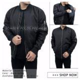 Beli Jacket Bomber Polos Exclusive Hitam Cicilan