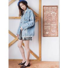 Jaket Denim Wanita Jeans OVERSIZE DENIM Wanita Ripped Paw V891038 NEW -  V8175 - ANCIENSTORE - 0077bc2cb2
