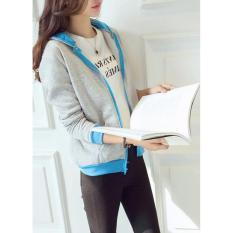 Harga Jacket Sweater Wanita Lizie Jacket Fleece Abu Strep Turqis Origin