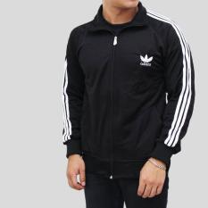 Jacket Tracktop Adid4s Hitam Lis Putih