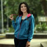 Diskon Jacket Wanita Hodie Jacket Hodie Women Blue Tourqis Fleece Branded