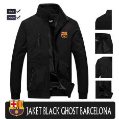 Jacket Waterproof Ghost Black Barcelona Indonesia