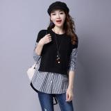 Toko Longgar Adalah Jahitan Tipis Palsu Dua Bottoming Kemeja Korea Fashion Style Sweater Hitam Hitam Terdekat