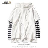 Beli Atasan Jahitan Topi Wanita Kemeja Korea Fashion Style Longgar 613 Bergaris Lengan Lengan Panjang Putih Oem Dengan Harga Terjangkau