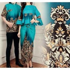 Jakarta Couple - Baju Couple Maxi Batik Rosa Tosca  Batik Couple  Batik Pasangan  Baju Cantik