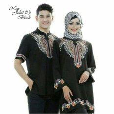 Jakarta Couple - Baju Couple Muslim Juliet Black Motif Bordir