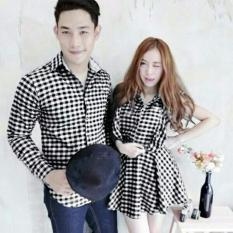 Jakarta Couple - Dress Couple Kotak Kotak / New Baju Couple