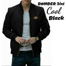 Promo Jakarta Couple Jaket Bomber Cool Black Jaket Bolak Balik Jaket Bomber Ala Jokowi Bomber Premium Bomber 2In1