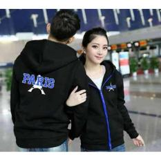 Jakarta Couple - Jaket Couple New Paris Hitam / Baju Couple Murah /