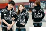Toko Jakarta Couple Jaket Pasangan Rusa Snowflake Hitam Jakarta Couple Online