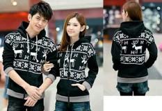 Spesifikasi Jakarta Couple Jaket Pasangan Rusa Snowflake Hitam Merk Jakarta Couple