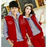Jual Jakarta Couple Jaket Salur Merah Jaket Couple Terbaru Grosir