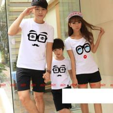 Jakarta Couple - Kaos Couple Family Kacamata White