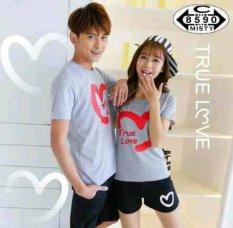 Jakarta Couple Kaos Pasangan Stelan True Love Misty