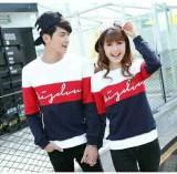 Jakarta Couple Kaos Pasangan Wisdom Navy Merah Murah