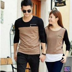 Jakarta Couple - Kaos Pasangan Zipper Coksu