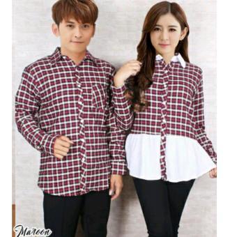 Jakarta Couple - Kemeja Couple Flanel /Kemeja Couple Terbaru