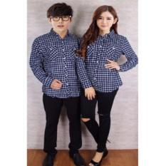 Beli Jakarta Couple Kemeja Couple Flanel Navy Online Dki Jakarta