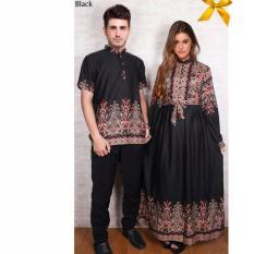 Jakarta Couple - Kemeja Couple Gamis Black JC04 / Kemeja Couple Muslim