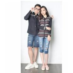 Promo Jakarta Couple Kemeja Couple Romantic Hitam New Kemeja Couple Jakarta Couple